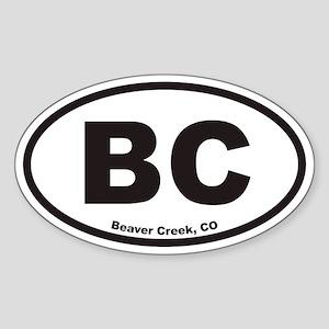 Beaver Creek Colorado BC Euro Oval Sticker