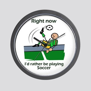 Right now soccer Wall Clock