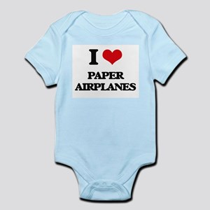 I Love Paper Airplanes Body Suit