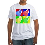 acoustic pop Fitted T-Shirt