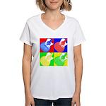 acoustic pop Women's V-Neck T-Shirt