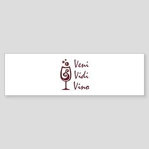 I CAME I SAW I WINED Bumper Sticker