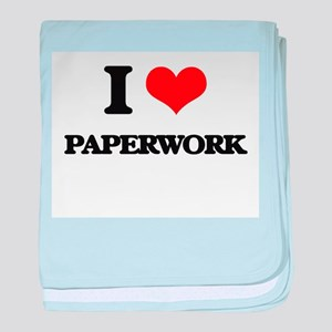 I Love Paperwork baby blanket