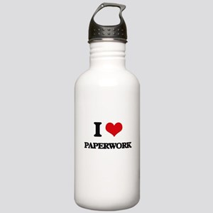 I Love Paperwork Stainless Water Bottle 1.0L