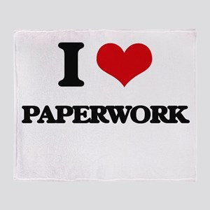 I Love Paperwork Throw Blanket