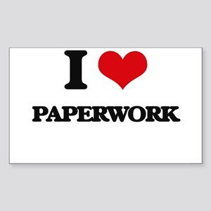I Love Paperwork Sticker