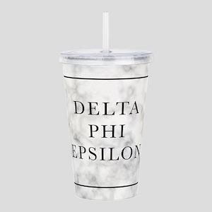 Delta Phi Epsilon Marb Acrylic Double-wall Tumbler