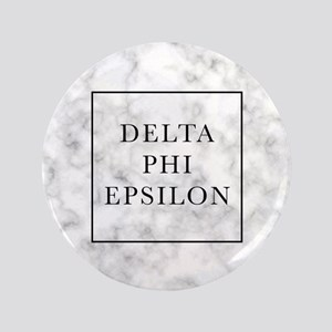 "Delta Phi Epsilon Marble 3.5"" Button"