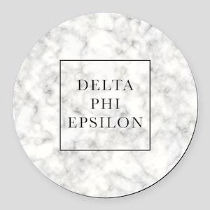 Delta Phi Epsilon Marble Round Car Magnet