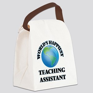 World's Happiest Teaching Assista Canvas Lunch Bag