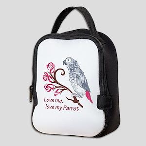 LOVE ME LOVE MY PARROT Neoprene Lunch Bag