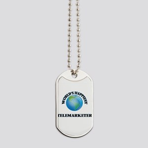 World's Happiest Telemarketer Dog Tags