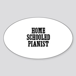 home schooled pianist Oval Sticker