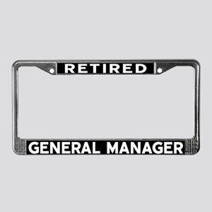 General Manager License Plate Frame