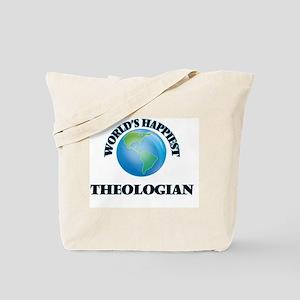 World's Happiest Theologian Tote Bag