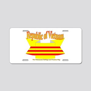 Vietnam Republic Flag Aluminum License Plate