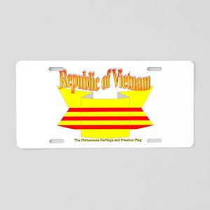 Vietnam Republic Flag Aluminum License Plate