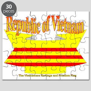 Vietnam Republic Flag Ribbon Puzzle