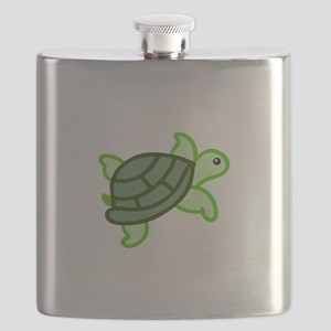 TURTLE APPLIQUE Flask
