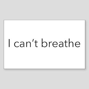 I can't breathe Sticker