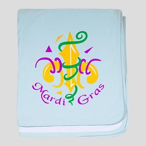 MARDI GRAS PARTY baby blanket