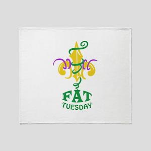 LE FLUER FAT TUESDAY Throw Blanket