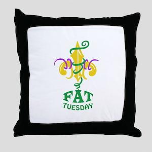 LE FLUER FAT TUESDAY Throw Pillow