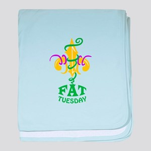 LE FLUER FAT TUESDAY baby blanket