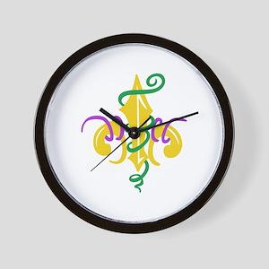 MARDI GRAS LE FLUER Wall Clock