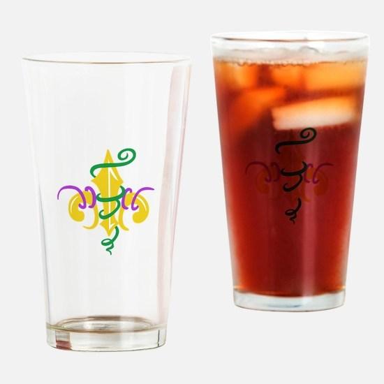 MARDI GRAS LE FLUER Drinking Glass