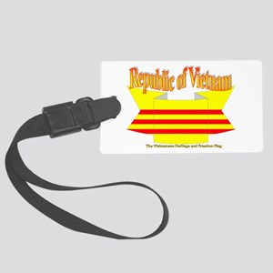 Vietnam Republic Flag Ribbon Large Luggage Tag