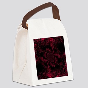 Red Fire Dragonfly Canvas Lunch Bag