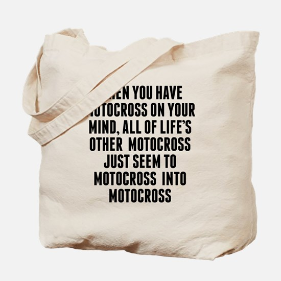 Motocross On Your Mind Tote Bag