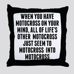 Motocross On Your Mind Throw Pillow