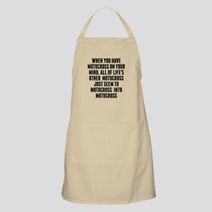 Motocross On Your Mind Apron