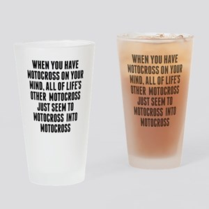 Motocross On Your Mind Drinking Glass