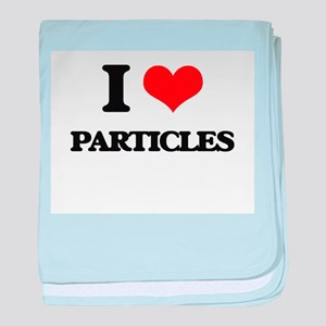 I Love Particles baby blanket