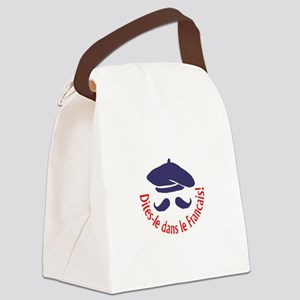 SAY IT IN FRENCH Canvas Lunch Bag