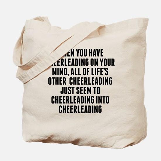 Cheerleading On Your Mind Tote Bag