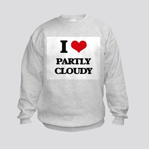 I love Partly Cloudy Kids Sweatshirt