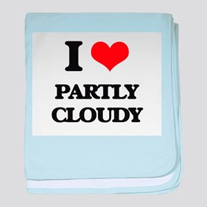 I love Partly Cloudy baby blanket