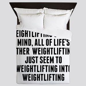 Weightlifting On Your Mind Queen Duvet