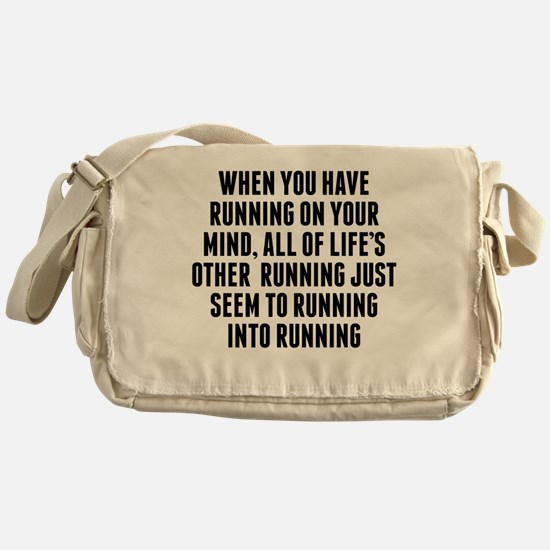 Running On Your Mind Messenger Bag