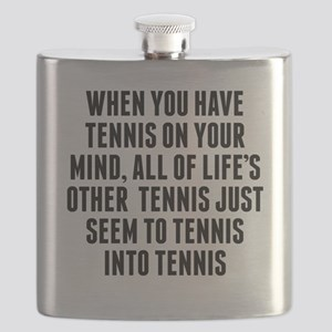Tennis On Your Mind Flask