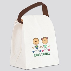 TWINS DOUBLE TROUBLE Canvas Lunch Bag