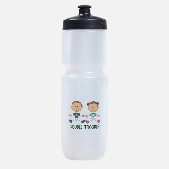 TWINS DOUBLE TROUBLE Sports Bottle