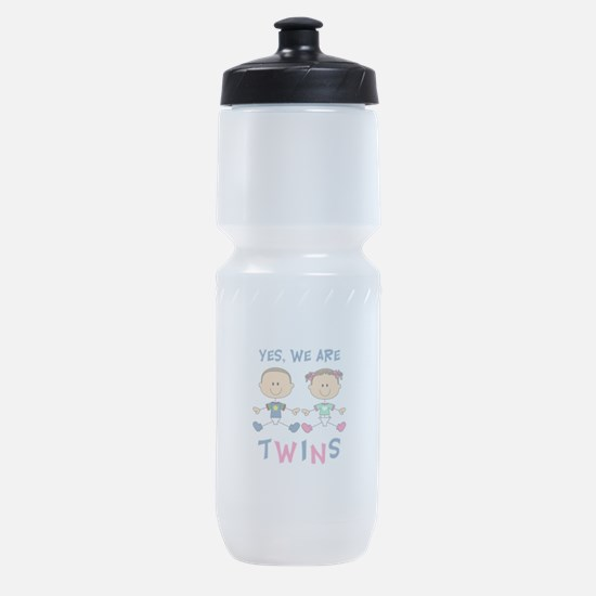 YES WE ARE TWINS Sports Bottle