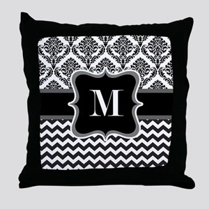 Personalised Letter M on Shower Curtain Throw Pill