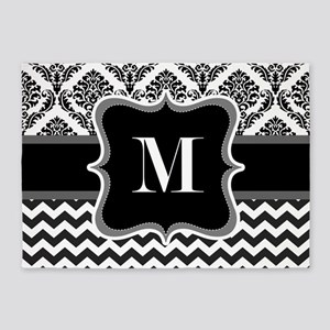 Personalised Letter M on Shower Curtain 5'x7'Area