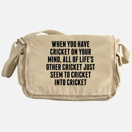 Cricket On Your Mind Messenger Bag